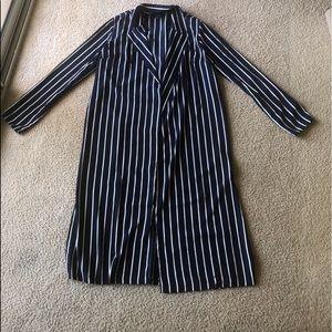 Pinstripe Kimono